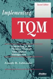 Implementing TQM by Joseph R. Jablonski