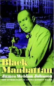 Black Manhattan by James Weldon Johnson