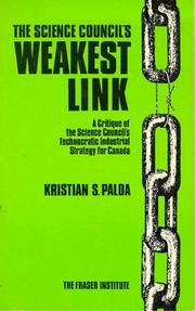 The Science Council's Weakest Link by Kristian S. Palda