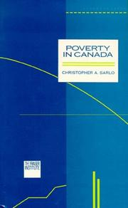 Poverty in Canada by Christopher A. Sarlo