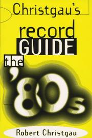 Christgau's record guide by Robert Christgau