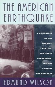The American earthquake by Edmund Wilson