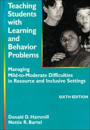 Teaching students with learning and behavior problems PDF
