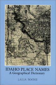 Idaho place names PDF