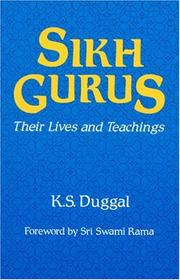 The Sikh gurus by Kartar Singh Duggal
