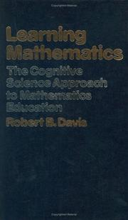 Learning mathematics by Robert B. Davis