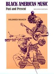 Black American music by Hildred Roach