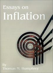 Essays on inflation by Thomas M. Humphrey