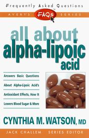 FAQs All about Alpha-lipoic Acid (Freqently Asked Questions) PDF