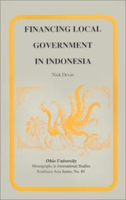 Financing local government in Indonesia by Nick Devas