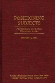 Positioning subjects by Stephen Appel