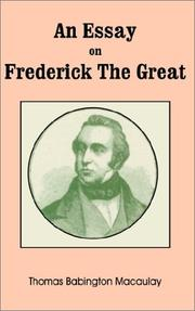 An Essay on Frederick the Great