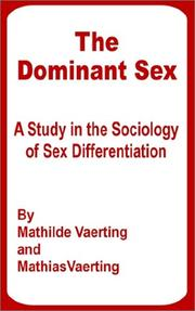 The dominant sex by Mathilde Vaerting