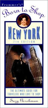 Frommer's Born to Shop New York PDF