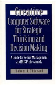 Creative computer software for strategic thinking and decision making PDF