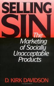 Selling sin by D. Kirk Davidson