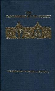 The Register of Walter Langton, Bishop of Coventry and Lichfield, 1296-1321 PDF
