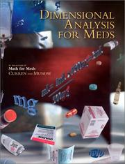 Dimensional analysis for meds by Anna M. Curren