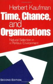 Time, chance, and organizations PDF