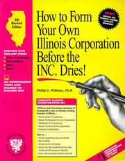 How to form your own Illinois corporation before the inc. dries! PDF