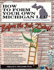 How to form your own Michigan LLC (limited liability company) before the ink dries! PDF