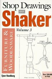 Shop drawings of Shaker furniture and woodenware PDF