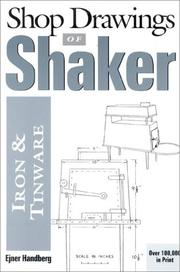 Shop drawings of Shaker iron and tinware by Ejner Handberg