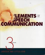 Cover of: Elements of Speech Communication by David M. Jabusch