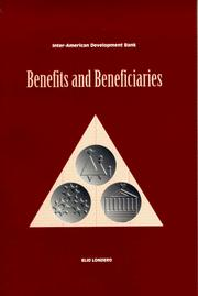 Benefits and beneficiaries by Elio Londero