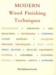 Modern wood finishing techniques PDF