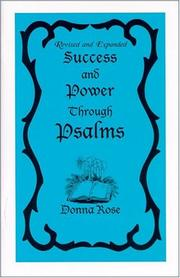 Cover of: Success and Power Through Psalms by Donna Rose