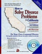 How to solve divorce problems in California PDF