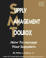 Supply management tool box by Peter L. Grieco