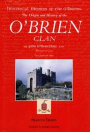Historical memoir of the O'Briens by O'Donoghue, John