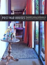 Post-war Houses (Twentieth Century Architecture) PDF