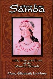 Letters from Samoa by Mary Elizabeth Pansini La Haye