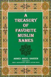 A treasury of favorite Muslim names PDF