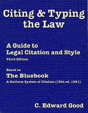 Citing & typing the law by C. Edward Good