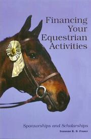 Financing your equestrian activities by Suzanne K. B. Fraser