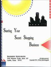 Starting Your Secret Shopping Business PDF