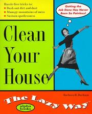 Clean Your House The Lazy Way PDF