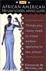 The African American pre-law school advice guide by Evangeline M. Mitchell