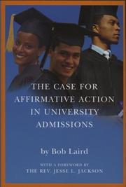 The Case for Affirmative Action in University Admissions by Bob Laird