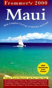 Cover of: Frommer's 2000 Maui With Molokai and Lanai (Frommer's Maui, 2000) by Jeanette Foster, Jocelyn Fujii