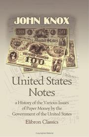 United States notes by John Jay Knox