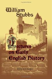 Lectures on early English history PDF