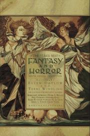 Cover of: The Year's Best Fantasy and Horror by