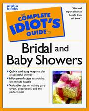Complete Idiot's Guide to BRIDAL SHOWERS PDF
