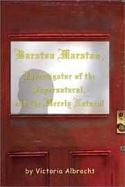Barston Marston, Investigator of the Super Natural, and the Merely Natural PDF