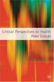 Critical Perspectives on Health PDF
